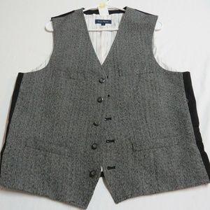 Sz M Gray Club Room Mens Polyester #890 Suit Vest